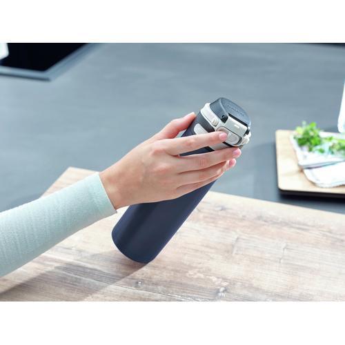 Leifheit Thermoflasche Flip, 600 ml blau Aufbewahrung Küchenhelfer Haushaltswaren