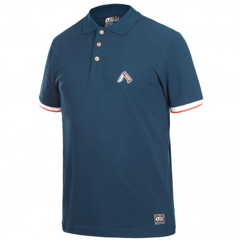 Picture - Trapper Polo - T-Shirt Gr S blau