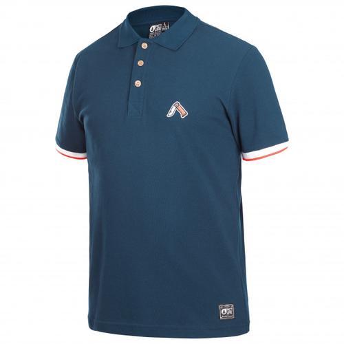 Picture - Trapper Polo - T-Shirt Gr L;M;S;XL blau