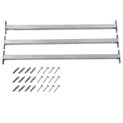 vidaXL Einstellbare Fenster-Sicherheitsstangen 3 Stk. 710-1200 mm