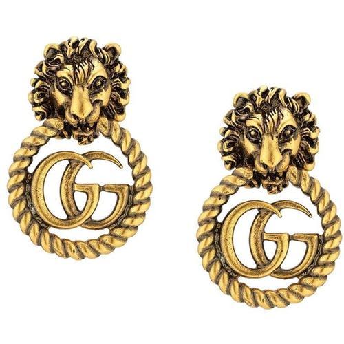 Gucci Löwenkopf Ring mit Doppel G
