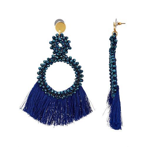 Ohrstecker mit Glassteinen KLiNGEL Blau