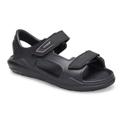 Crocs Black/Slate Grey Kids' Swi...