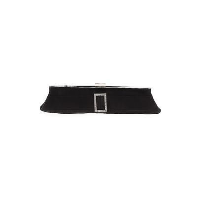 La Regale Clutch: Black Solid Bags