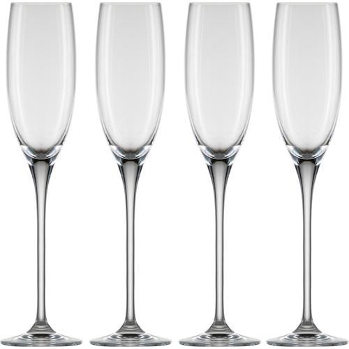 Eisch Sektglas Superior SensisPlus, (Set, 4 tlg.), bleifreies Kristallglas, 180 ml farblos Kristallgläser Gläser Glaswaren Haushaltswaren