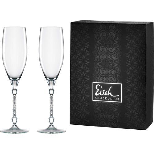 Eisch Champagnerglas 10 Carat, (Set, 2 tlg.), handgefertigtes, bleifreies Kristallglas, 280 ml farblos Kristallgläser Gläser Glaswaren Haushaltswaren