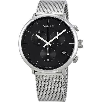 High Noon Chronograph Quartz Black Dial Watch - Black - Calvin Klein Watches