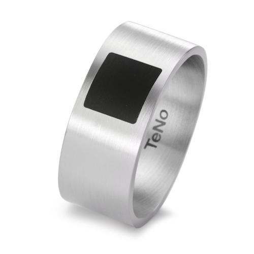 TeNo Design Ring YUMA mit Keramik Quadrat Design