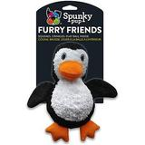 Spunky Pup Furry Friends Penguin Squeaky Plush Dog Toy