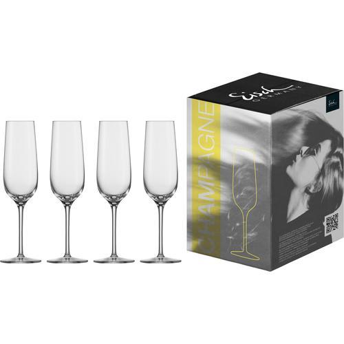 Eisch Sektglas Vinezza, (Set, 4 tlg.), bleifrei, 225 ml farblos Kristallgläser Gläser Glaswaren Haushaltswaren