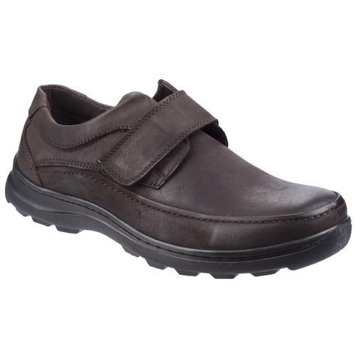 Fleet & Foster Klettschuh Herren Hurghada Leder Schuhe braun Halbschuhe Sommerschuhe