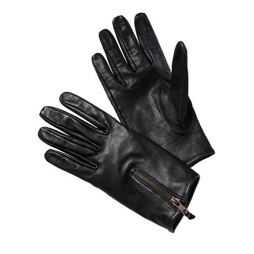 Lederwerk Herren Lederhandschuh Schwarz einfarbig