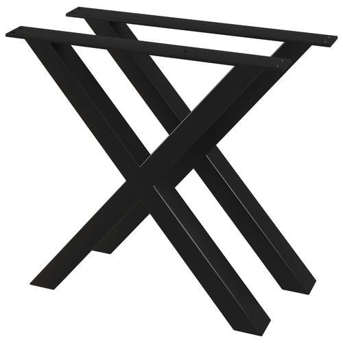 vidaXL Esstischbeine 2 Stk. X-Gestell 80×72 cm