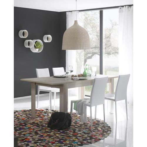 LC Esstisch, erweiterbar durch Ansteckplatte beige Esstische rechteckig Tische Esstisch
