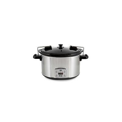 Kalorik 8 Quart Digital Slow Cooker with Locking Lid - Silver