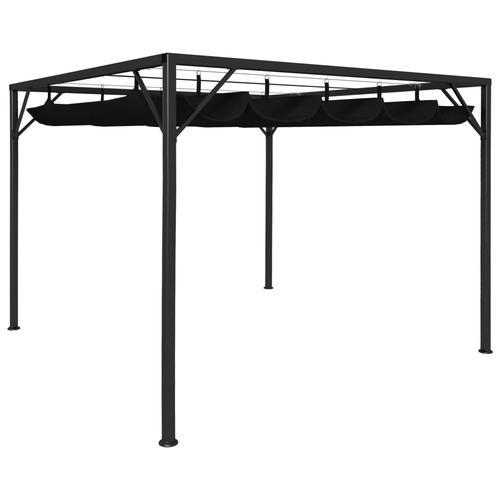 vidaXL Gartenpavillon mit ausziehbarem Dach 3×3 m Anthrazit