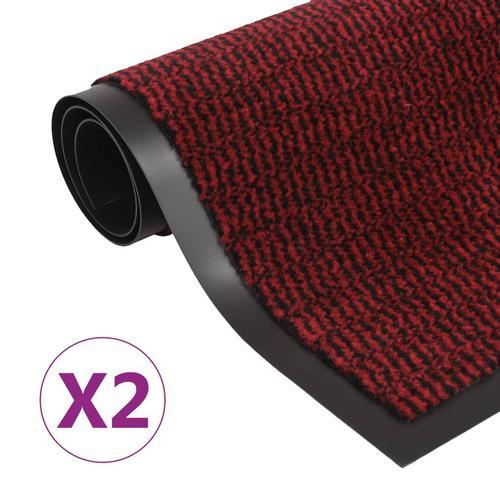 vidaXL Schmutzfangmatten 2 Stk. Rechteckig Getuftet 90x150cm Rot