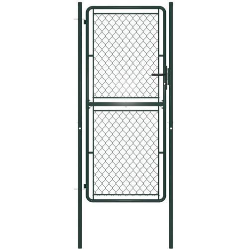 Gartentor Stahl 100 x 200 cm Grün