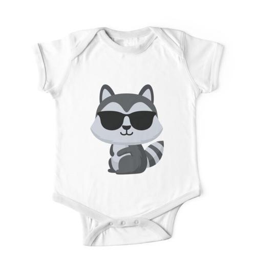 Waschbär Emoji Kinderbekleidung