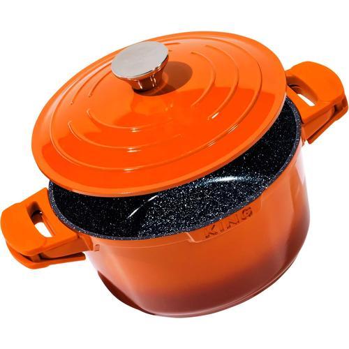 KING Schmortopf Shine Orange, Aluminiumguss, (1 tlg.), Induktion orange Schmortöpfe Töpfe Haushaltswaren