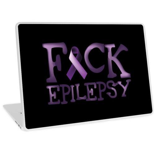 Epilepsie-Krieger - Fuck Epilepsie Laptop Skin