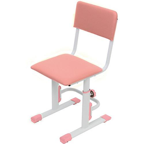 Kinderstuhl, höhenverstellbar, weiß-rosa