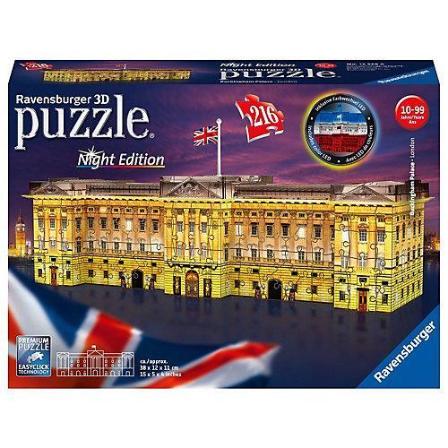 3D-Puzzle Night mit LED, B38 cm, 216 Teile, Buckingham Palace bei Nacht