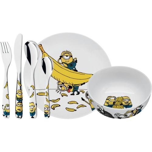 Kindergeschirr und -besteck Minions, 6-tlg. blau/gelb