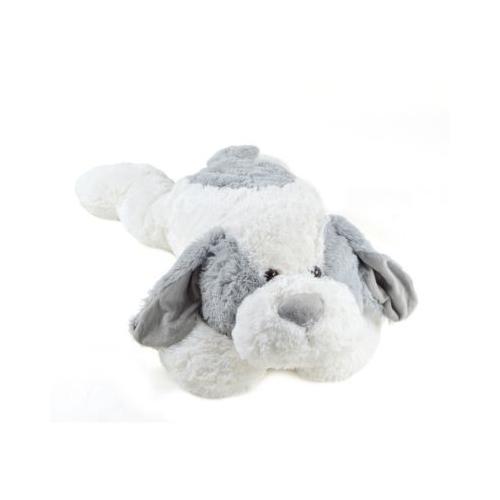 XXL Plüschhund Lou - 100 cm grau/weiß