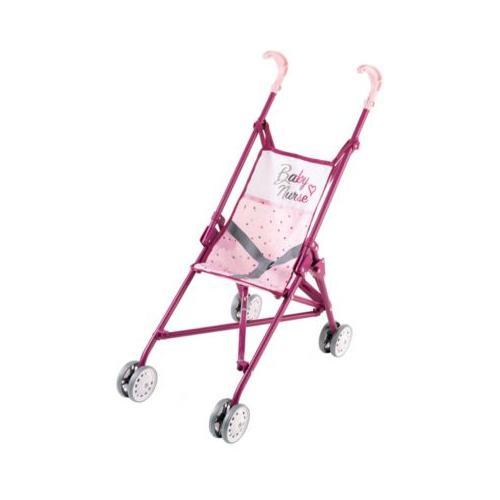 Baby Nurse Puppenwagen zusammenklappbar rosa/lila