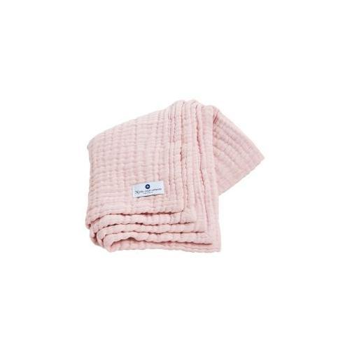 Babydecke 4-in-1 ideal als Pucktuch und Spucktuch Krabbeldecken rosa