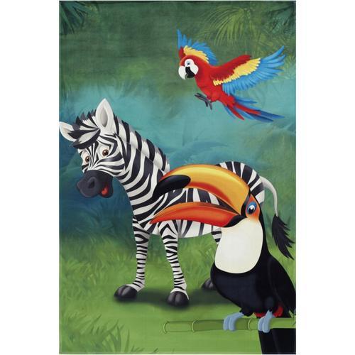 Kinderteppich Lovely Kids Dschungel Tiere, 80 x 150 cm grün