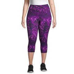 Plus Size Just My Size Capri Leggings, Women's, Size: 5XL, Purple