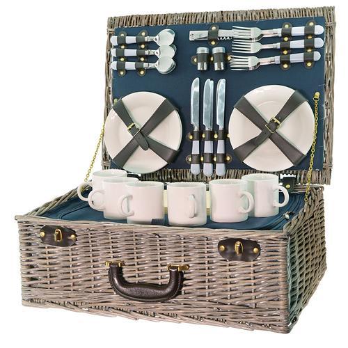 Smak Picknickkorb aus Weiden Picknick-Set für 6 Personen