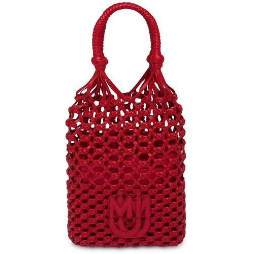 Miu Miu Makramee-Handtasche mit Logo