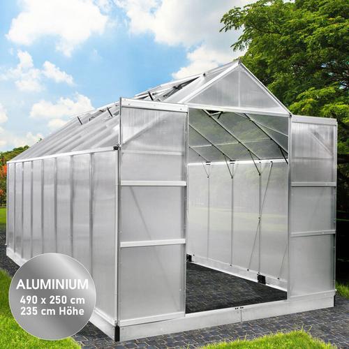 Brast - Aluminium-Gewächshaus 490x250x235