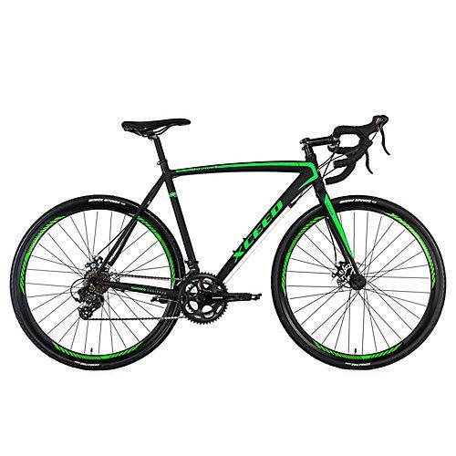 Gravelbike Rennrad 28'' Xceed schwarz-grün Rennräder, Rahmenhöhe: