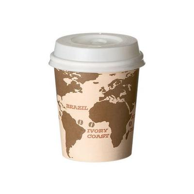 gobelets carton 'world map' diamètre 63mm hauteur 60mm