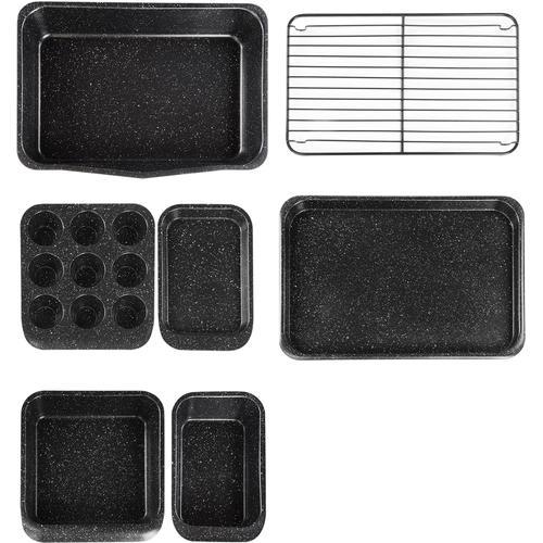 STONELINE Backform, (Set, 7 St.), mit Antihaftbeschichtung schwarz Backformen Backbleche Kochen Backen Haushaltswaren Backform
