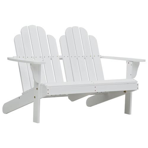 vidaXL Doppelter Adirondack-Stuhl Holz Weiß