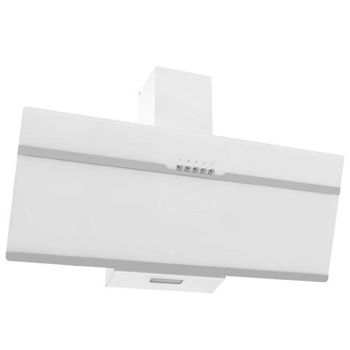 vidaXL Dunstabzugshaube 90 cm Edelstahl und Hartglas Weiß