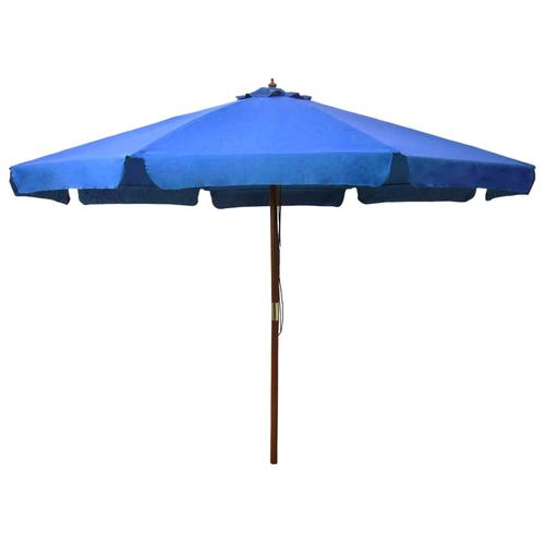 vidaXL Sonnenschirm mit Holzmast 330 cm Azurblau