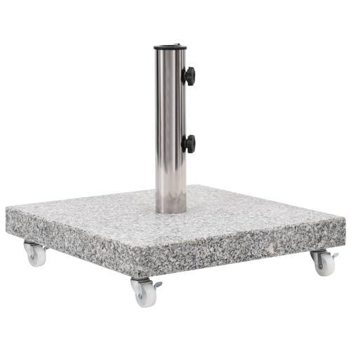 vidaXL Sonnenschirmständer Granit 30 kg Quadrat Grau
