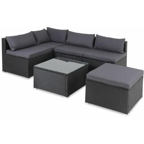 Casaria Poly Rattan XL Lounge Set Auflagen & Kissen Gartenlounge Sitzgruppe Gartenmöbel Set