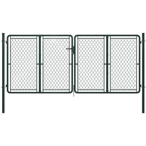 Gartentor Stahl 300 x 125 cm Grün