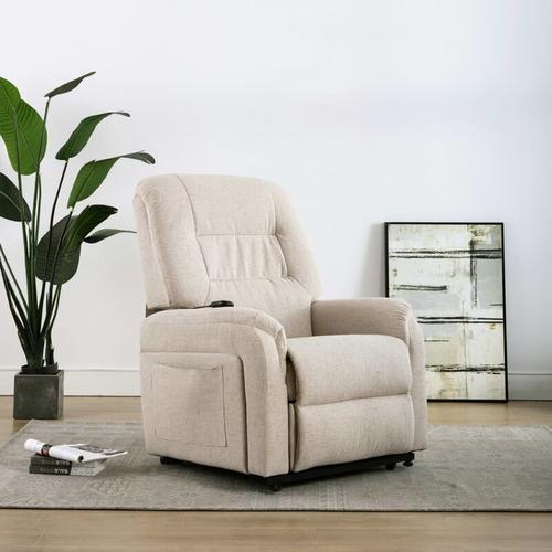 TV-Sessel mit Aufstehhilfe Elektrisch Stoff Creme