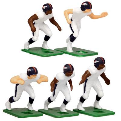 Denver Broncos White Uniform Action Figures Set