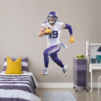 Minnesota Vikings Adam Thielen Fathead Away Life Size Removable Wall Decal