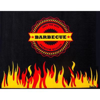 FloorTex 39'' x 60'' Doortex Rectangular Fire Retardant BBQ Mat - Flame, FR4BQ3960FL