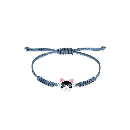 Elli Armband Kinder Kids Katze Kristalle 925 Silber Armbänder blau Mädchen Kinder